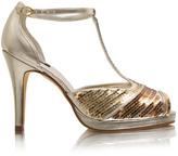 ASOS T-Bar Sequin Peep Toe Sandal