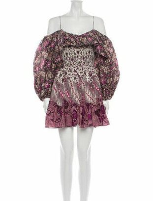 Ulla Johnson Floral Print Mini Dress w/ Tags Purple