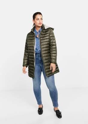 MANGO Violeta BY Pocket quilted jacket khaki - XS - Plus sizes