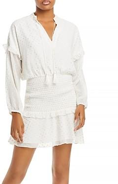 Aqua Polka Dot Ruffled Mini Dress - 100% Exclusive