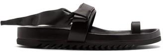 Rick Owens Granola Leather Slides - Womens - Black
