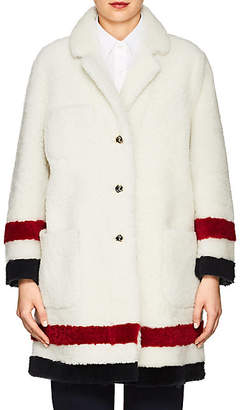 Thom Browne Women's Reversible Shearling Coat - White