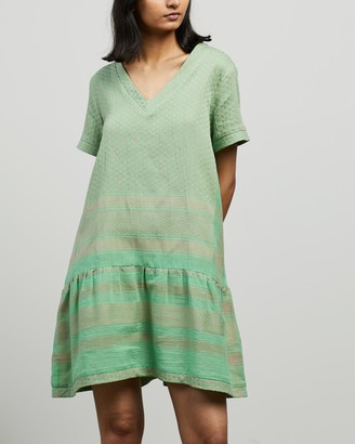 Cecilie Copenhagen Women's Green Mini Dresses - Dress 2 V SS - Size XS at The Iconic
