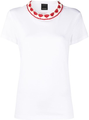 Pinko Crochet-Neck T-Shirt