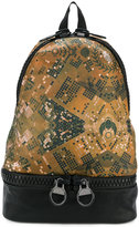 Frankie Morello printed double zip backpack