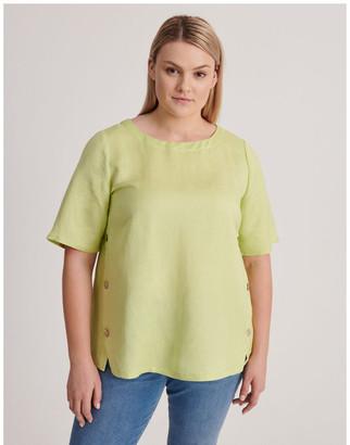 Regatta Short Sleeve Linen Blend Top