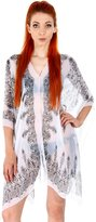 Simplicity Women's Convertible Plus Size Beach Cover Ups Shawl Kimono with Buttons