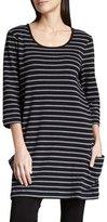Joan Vass Striped Knit Tunic, Plus Size
