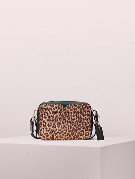 fb5d3bc7dee Candid Metallic Leopard Medium Camera Bag, Rose Gold