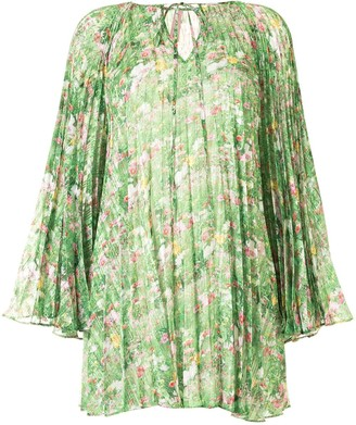 Romance Was Born Lacy Gardens pleated blouse