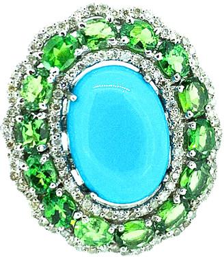 Arthur Marder Fine Jewelry Silver 0.68 Ct. Tw. Diamond & Gemstone Ring