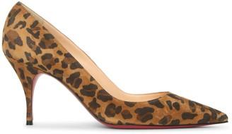 Christian Louboutin Clare 80 leopard suede pumps