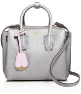 MCM Milla Mini Metallic Leather Satchel