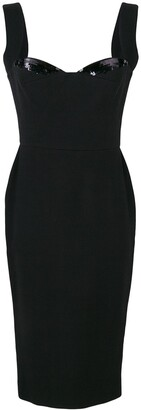 Victoria Beckham Bustier Fitted Dress