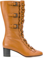 Chloé lace-up buckle boots