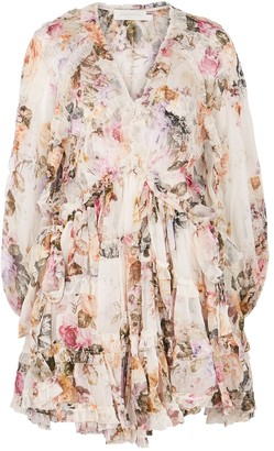 Zimmermann Brighton floral-print silk-georgette mini dress