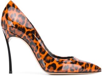 Casadei Blade leopard printed pumps