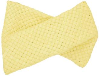Bottega Veneta Yellow Intrecciato The Crisscross Clutch