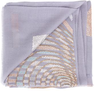 Janavi India Pearl Sequence Illusion Scarf