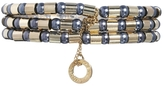French Connection 3 Row Pearl & Tube Strech Bracelet