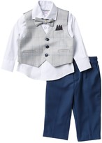 Isaac Mizrahi Check Vest Suit Set - 4-Piece Set (Baby Boys)