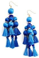 Kate Spade Women's Pretty Pom Tassel Drop Earrings