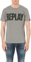 Replay Logo cotton-jersey t-shirt