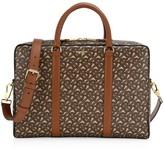 Burberry Jax TB Monogram Bridle E-Canvas Messenger Bag