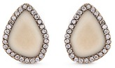 Monique Péan 'Fossilized Woolly Mammoth' diamond 18k white gold stud earrings