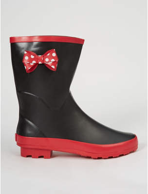 Disney George Minnie Mouse Calf High Wellington Boots