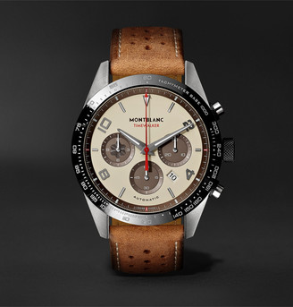 Montblanc TimeWalker Limited Edition Automatic Chronograph 43mm Stainless Steel, Ceramic and Leather Watch, Ref. No. 118491 - Men