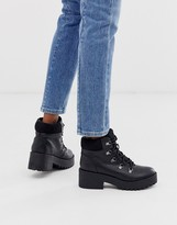 Call it SPRING by ALDO Hiker lace up chunky ankle boots in black