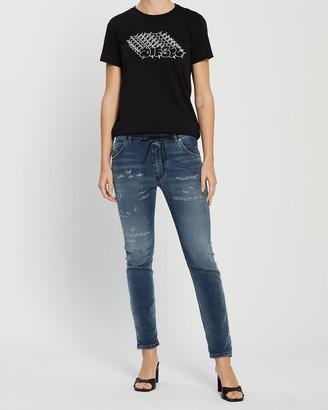 Diesel Women's Blue Boyfriend - Krailey R-NE Jogg Jeans - Size One Size, 23 at The Iconic