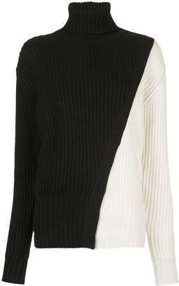 Prabal Gurung diagonal seam heavy weight knit