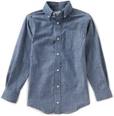 Class Club Big Boys 8-20 Long-Sleeve Denim Shirt