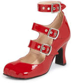 Vivienne Westwood Animal Toe 3-Straps Patent Red
