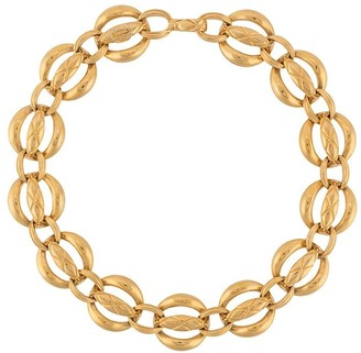 Chanel Pre Owned 1990s Wide Chain Link Choker