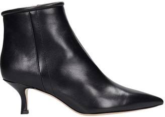 Fabio Rusconi Low Heels Ankle Boots In Black Leather