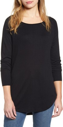 Caslon Shirttail Tunic Sweater
