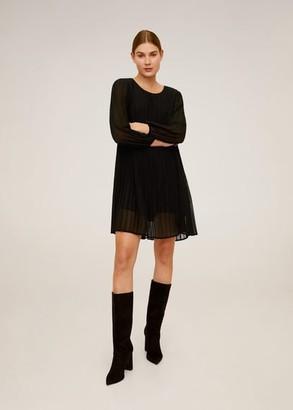 MANGO Pleated short dress