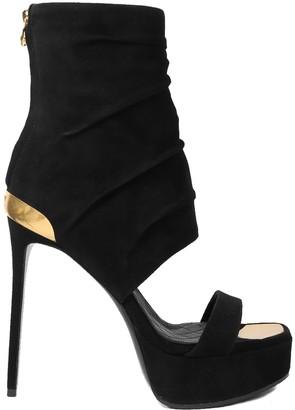 Balmain Black Patty Sandals