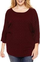 A.N.A a.n.a Long-Sleeve Printed Sweater - Plus