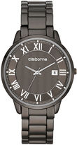 Claiborne Mens Gunmetal Bracelet Watch