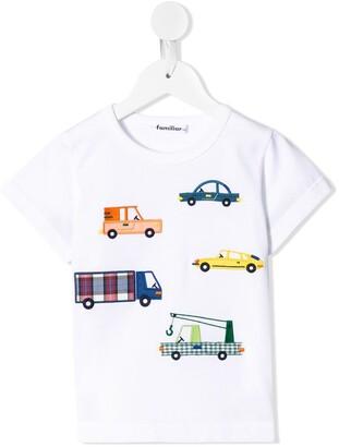 Familiar car embroidery T-shirt