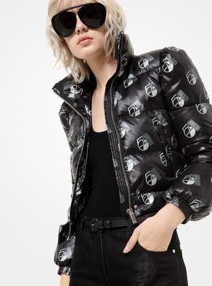 Michael Kors Studio 54 Print Nylon Puffer Jacket