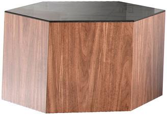 "Modloft Centre Occasional Table, Black on Walnut, Small 10"""