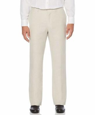 Cubavera Big & Tall Linen-Blend Flat Front Pants