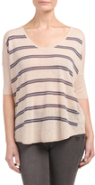 Linen Blend Striped Tee