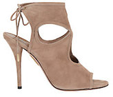 Aquazzura Sexy Thing Cut Out Beige Suede Sandals