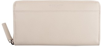 Globe-trotter Zip around purse Ivory
